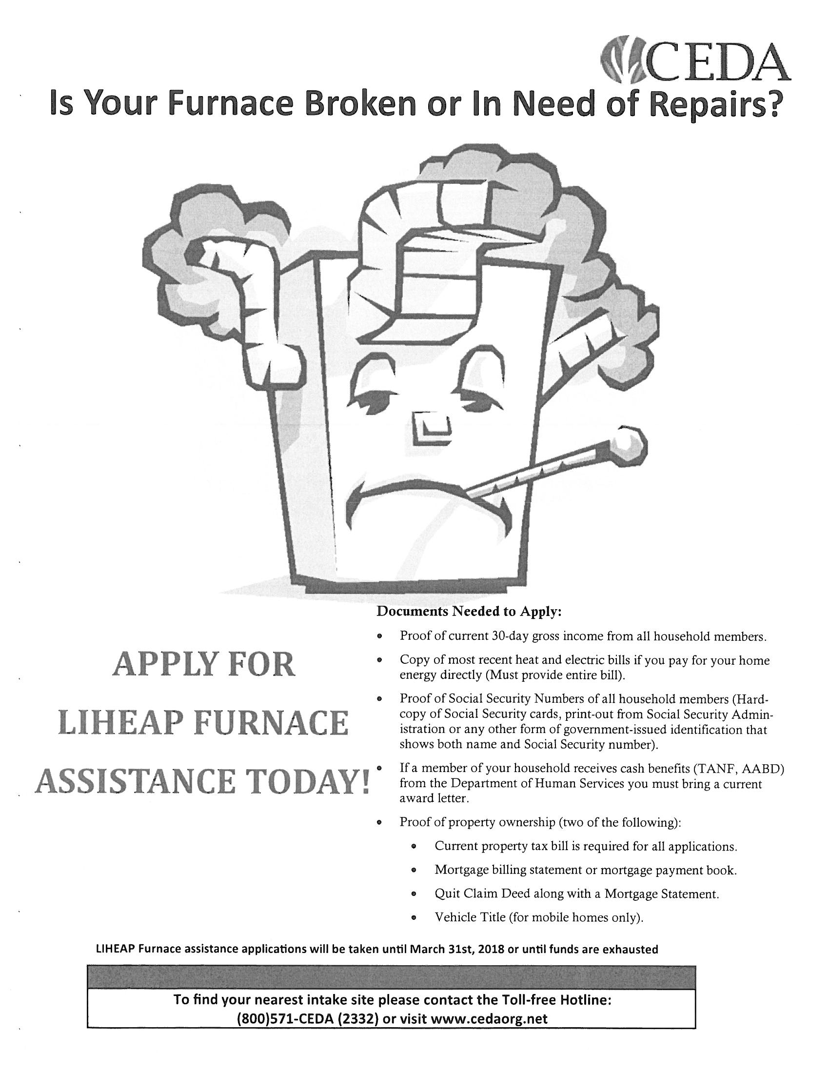 3.2.2018 Furnace Assistance March 2018