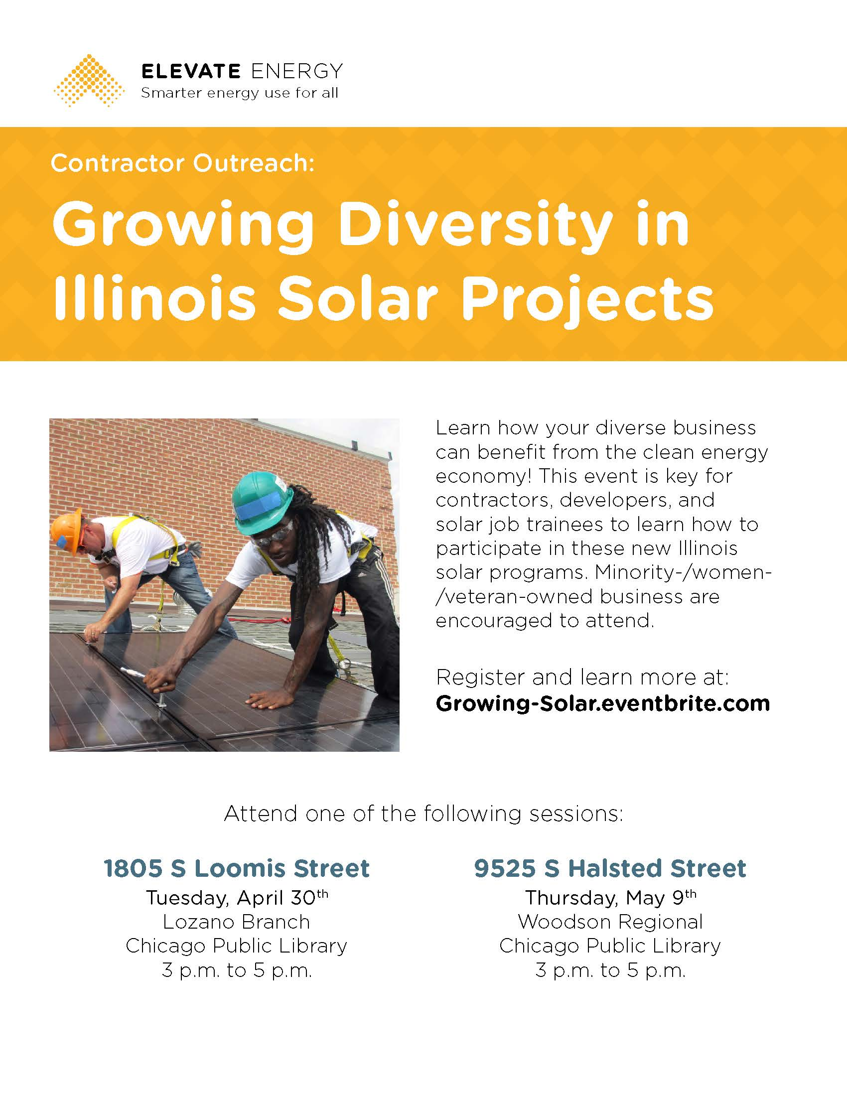 Event Flyer Growing Diversity in IL Solar Projects 002