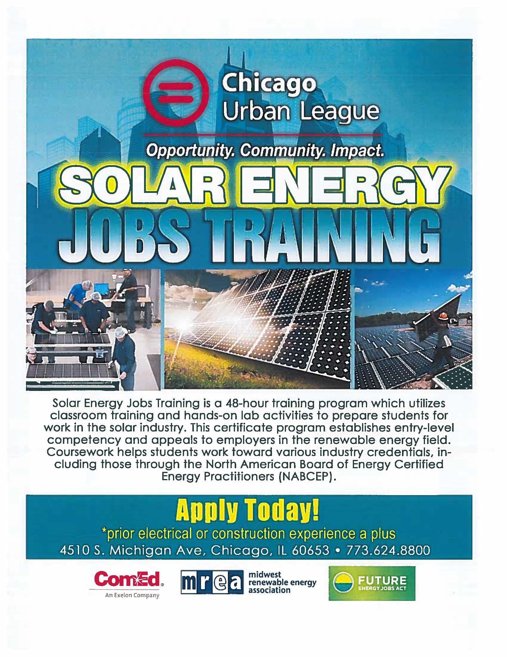 Solar Energy Jobs Training