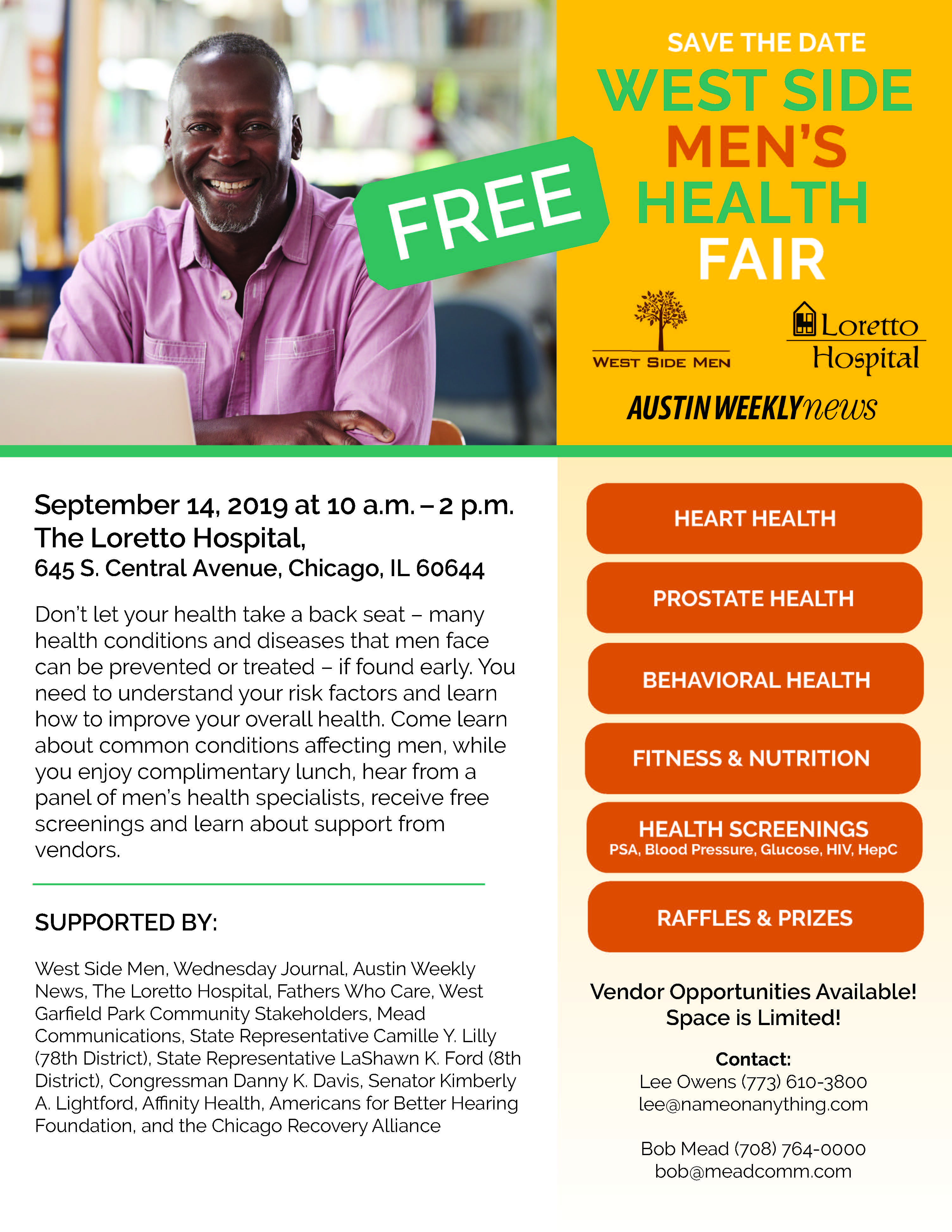 Westside Mens Health Fair Flyer FINAL 2019