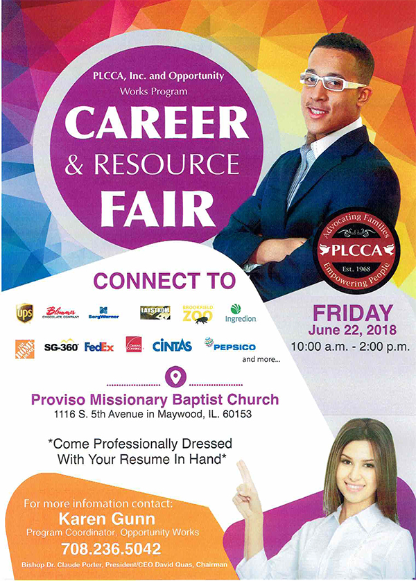Coming Up: Career and Resource Fair in Maywood